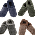 Size UK Adult 6/7 Chunky Unisex Snoozies Slippers Soft, Cosy, Non-Slip Sherpa Fleece